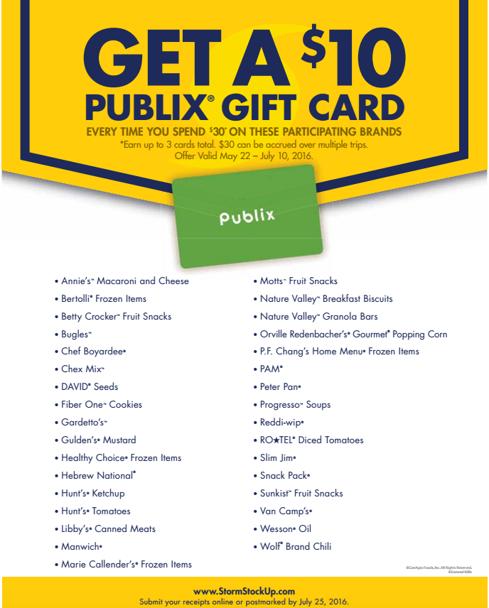 Summer Stock Up at Publix