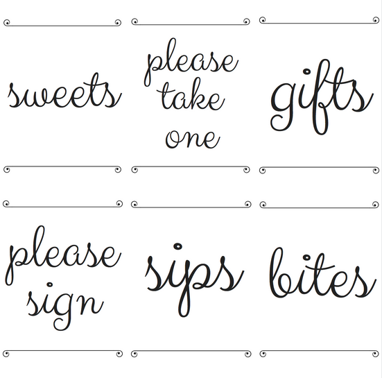 photo about Baby Shower Signs Printable named Do-it-yourself Child Shower Desk Signs or symptoms with Free of charge Printables - Katie