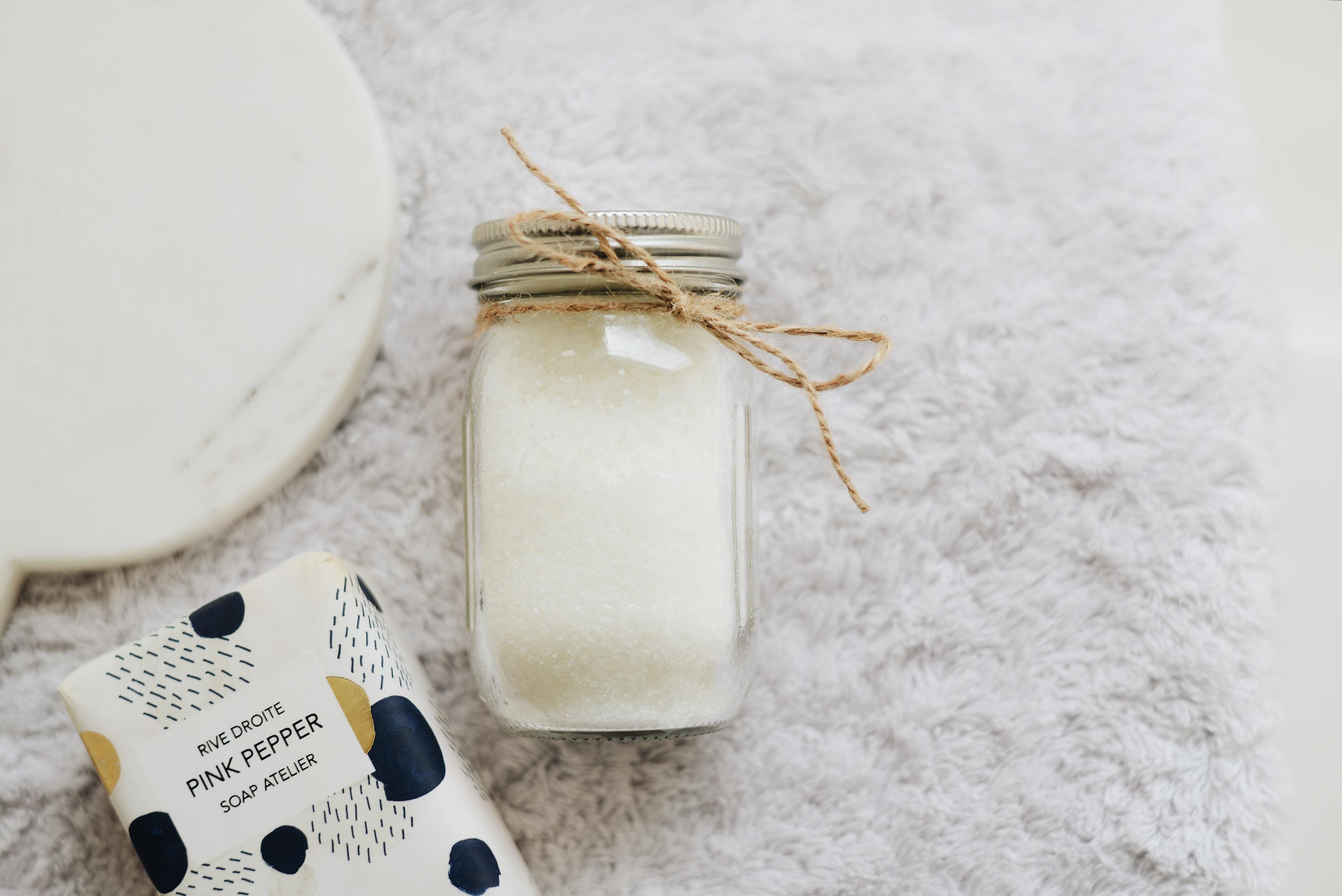 DIY essential oil bath salts